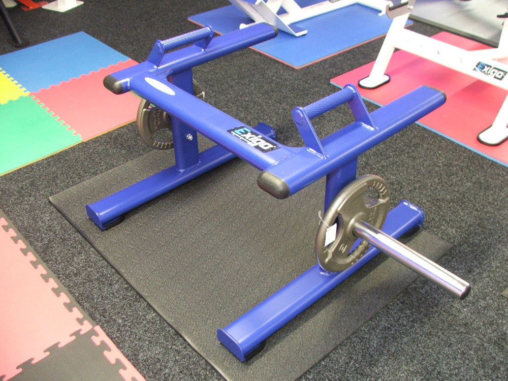 Free Standing Shrug Frame in Blue Powder Coat Finish